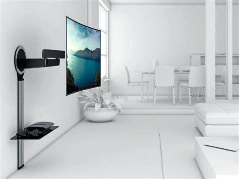 tv wandmontage kabelkanal vogels designmount next 7345 schwenkbar tv wandhalterung