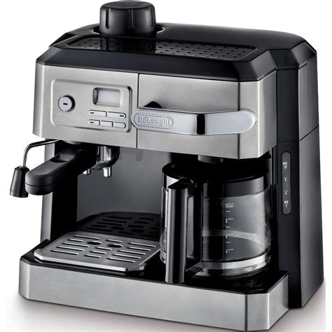 DeLonghi BCO330T Combination Steam Espresso and 10c Drip Coffee Machine with Manual Frothing and