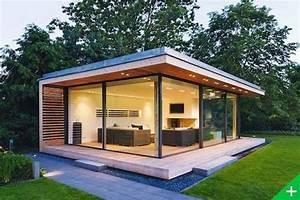 Studio De Jardin Bois Habitable Pool House Extension Maison