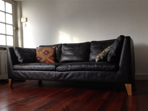 Ikea Stockholm Three Seat Sofa Leather For Sale In