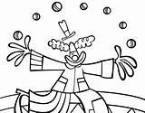 Juggler Jongleur Malabarista Giocoliere Payaso Coloritou Pachuca Pagliaccio Payasa Juggle Dibuixos Acolore Pallasso sketch template
