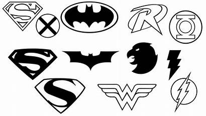 Justice League Coloring Pages Shapes Cartoon