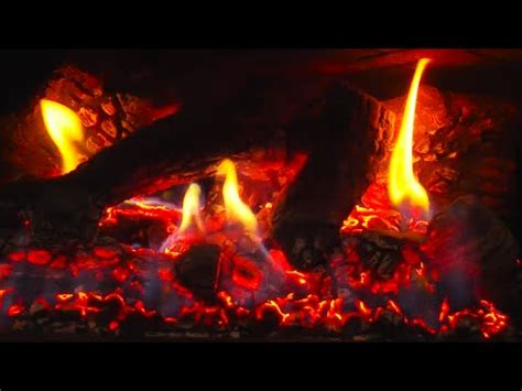hours fireplace hd video  crackling flames