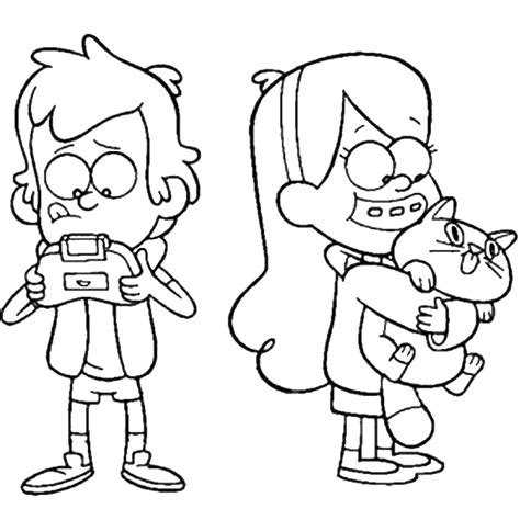 mobilegravity falls characters coloring pages coloring pages