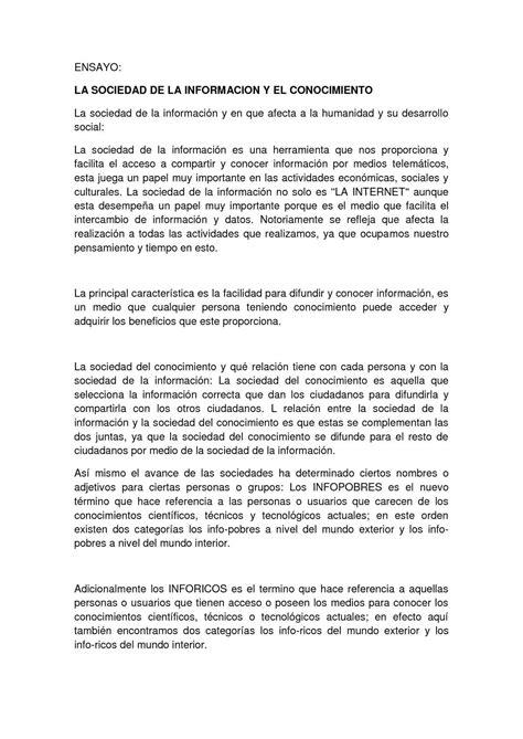 Calaméo ENSAYO DE: LA SOCIEDAD DE LA INFORMACION Y EL