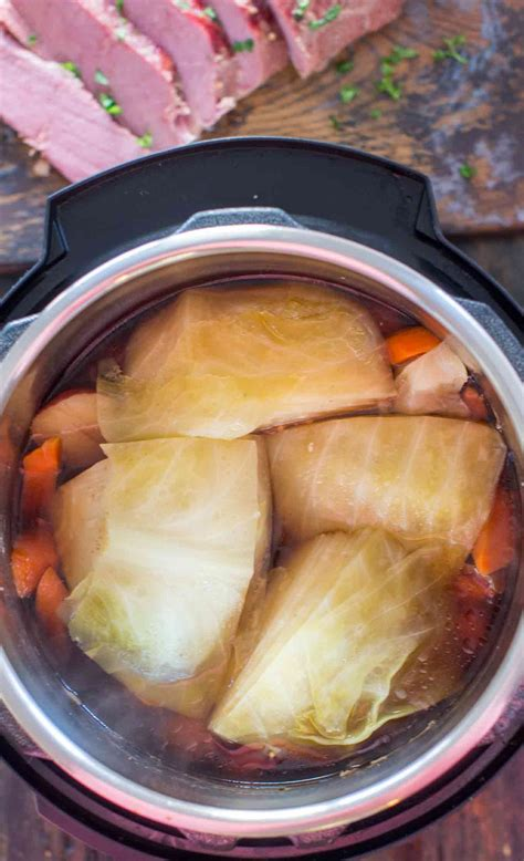 Talk about comfort food such as this fork tender and fall apart beef! Instant Pot Corned Beef and Cabbage VIDEO - Sweet and Savory Meals