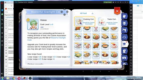 ragnarok eternal love mobile cook recipe   star