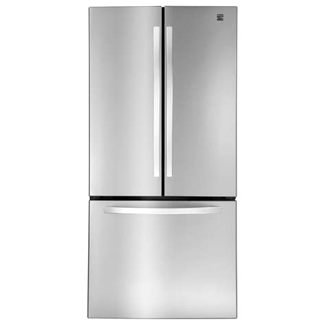 stainless steel door refrigerator kenmore 71313 23 9 cu ft door bottom freezer