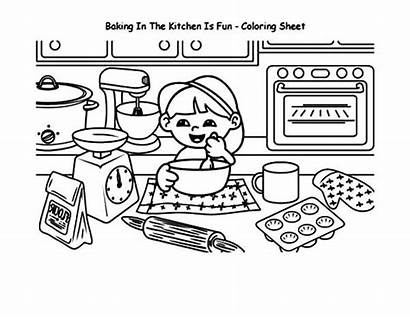 Coloring Baking Cookies Kitchen Sheets Mess Tocolor