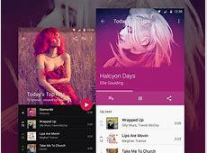 Material Design Music Player Sketch freebie Download