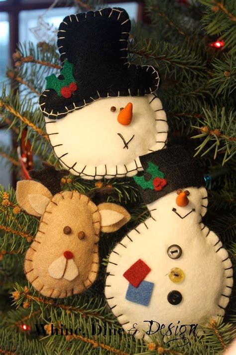 whine dine and design timeless felt christmas ornaments