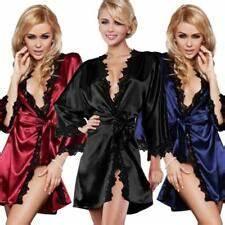 Morgenmantel Damen Günstig : kimono aus satin f r damen g nstig kaufen ebay ~ Watch28wear.com Haus und Dekorationen