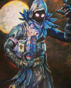fornite skin raven drawing dessin corbeau epic game