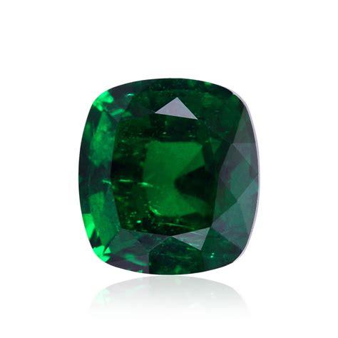 carat green zambian emerald cushion shape minor