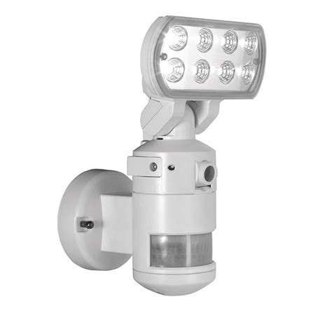 security light and camera nightwatcher nw700wh robotic led security motion tracking