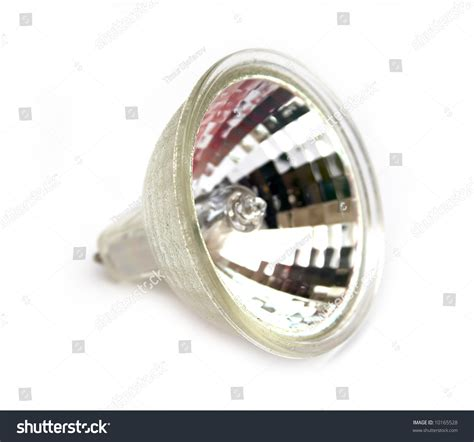 fluorescent small spot light bulb at white background