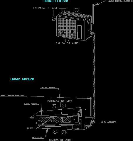 minisplit air conditioner dwg detail for autocad designs cad