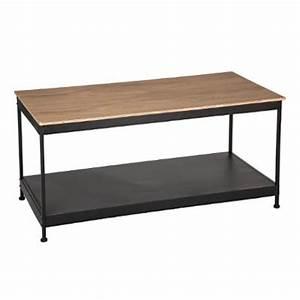 Table Basse Bois Industriel : table basse industriel joris 120cm noir bois ~ Teatrodelosmanantiales.com Idées de Décoration