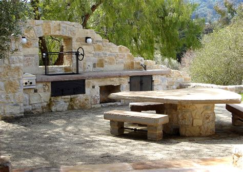 outdoor barbecue areas rustic outdoor kitchen patio mediterranean with barbecue