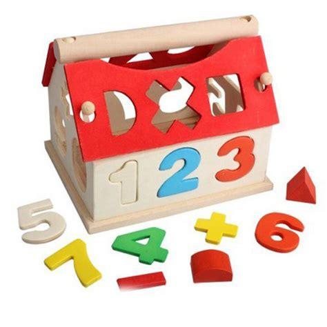 buy wooden toys house digital number kids building