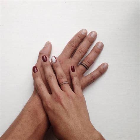 stickandpoketattoo matching wedding ring tattoos