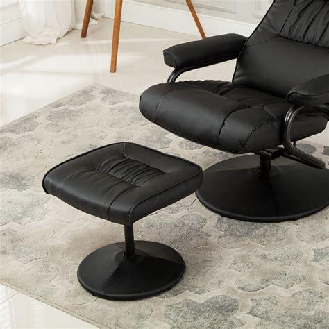recliner chair swivel armchair lounge seat w footrest stool ottoman home set ebay