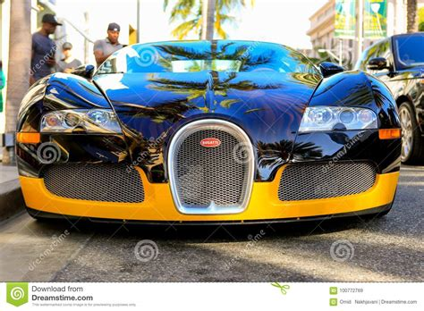 And is equipped with four turbo chargers. BEVERLY HILLS, CA - JUNE 10, 2017: Bijan`s Custom Bugatti Editorial Stock Image - Image of drive ...