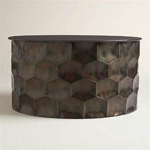metal coffee tables metals and drums on pinterest With drum coffee table with storage