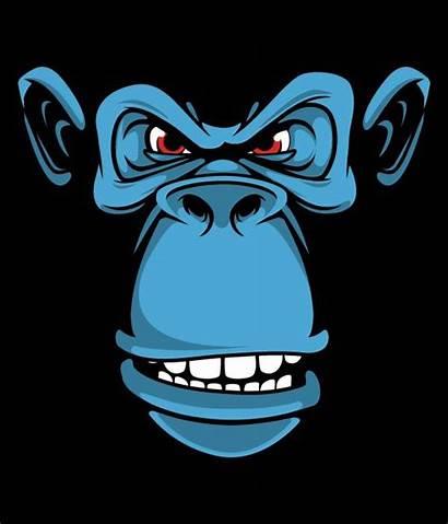 Monkey Character Monkeys Behance Various Angry Ape