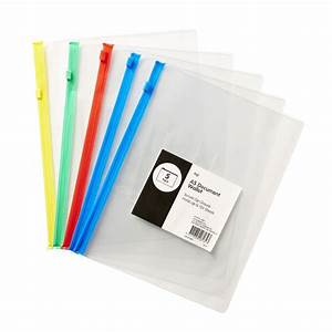 keji pvc document wallet a5 zip closure 5 pack officeworks With a5 document wallet