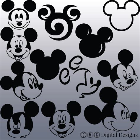 mickey mouse head silhouette clipart   cliparts