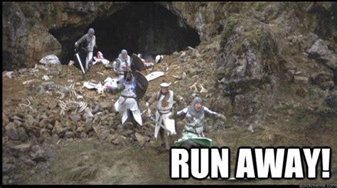 Running Away Meme - run away run away quickmeme