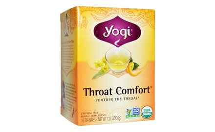 yogi throat comfort yogi throat comfort tea 16 tea bags pack of 6 groupon