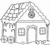 Coloring Gingerbread Pages Houses Printable sketch template