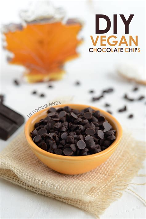 vegan chocolate how to make vegan chocolate chips fit foodie finds