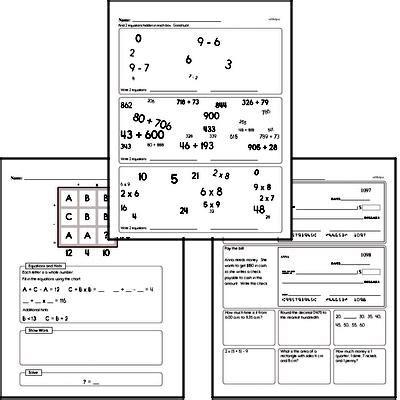 grade number sense  worksheets edhelpercom
