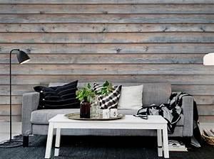 Comment Recouvrir Du Lambris : le on de d co comment cr er un effet bois au mur elle d coration ~ Melissatoandfro.com Idées de Décoration