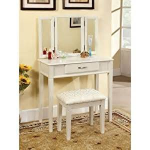 amazon com furniture of america doris 2 piece vanity and