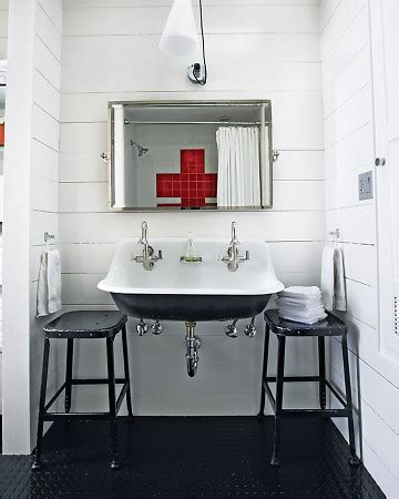 bathroom sink mix and chic home tour an industrial chic duplex Industrial