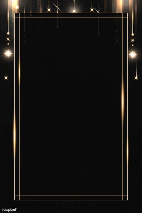 Download premium illustration of Rectangle gold frame with
