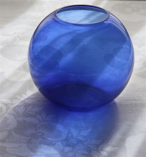 cobalt blue glass l walter von nessen art deco cobalt blue 5 quot ball vase for