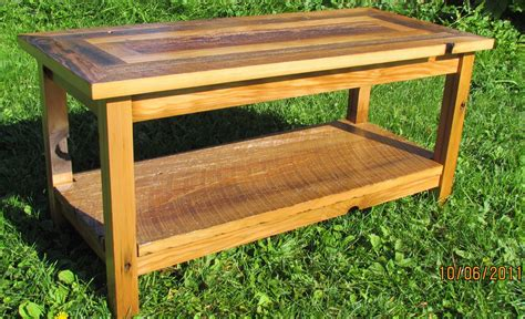 Custom handcrafted using reclaimed barn wood, in the heart of amish country, lancaster county, pennsylvania. Handmade Reclaimed Barnwood Coffee Table With Matching End Tables by Five Points Custom ...
