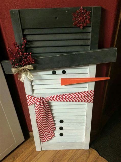 snowman shutter  shutters pinterest shutters