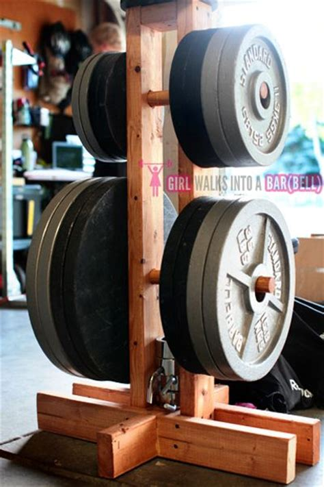 weight plate rack garage diy workout equipment ideas you need to try