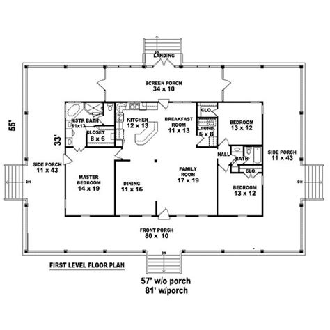 house plans with kitchen in front country house plan 45764 wraps kitchens and house