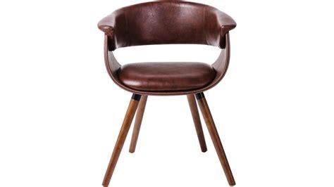 achetez votre chaise simili cuir marron et bois vintage monaco kare design pas cher sur loft