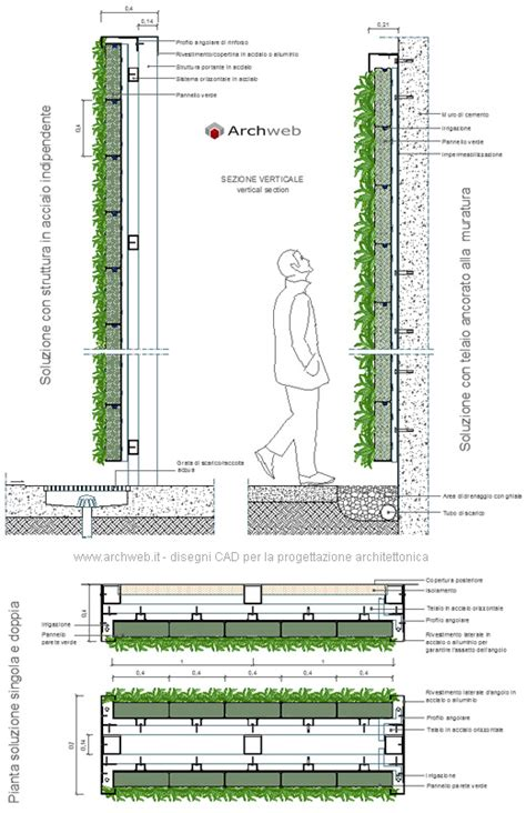 vasi dwg giardini verticali dwg