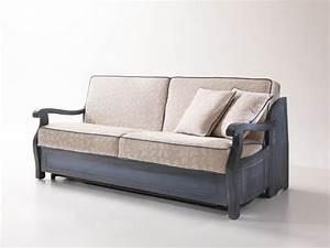 Divano letto rustico con struttura in legno stile for Divano stile provenzale