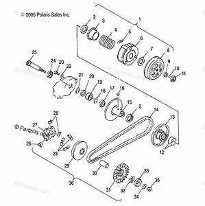 Polaris Atv 2006 Oem Parts Diagram For Drive Pulley   Cb  Cc