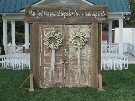Rustic Wedding Doors Rent Rusted Root Rentals Amazing
